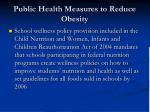 public health measures to reduce obesity88