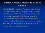 public health measures to reduce obesity89