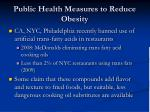 public health measures to reduce obesity95