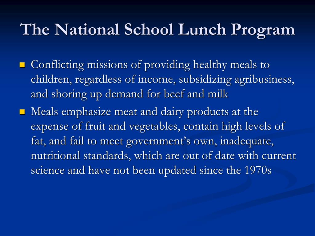 The National School Lunch Program