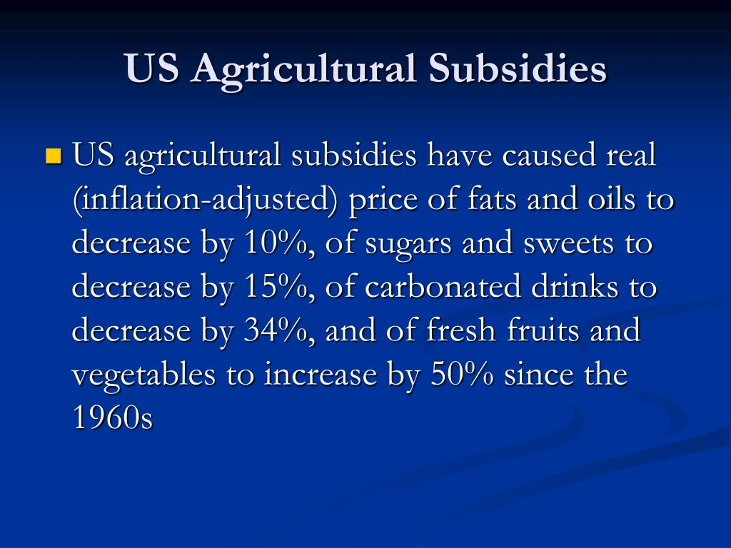 US Agricultural Subsidies