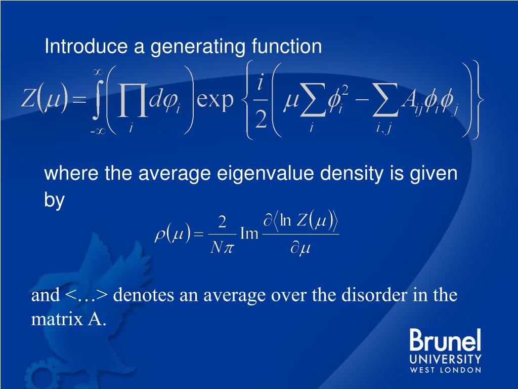 Introduce a generating function