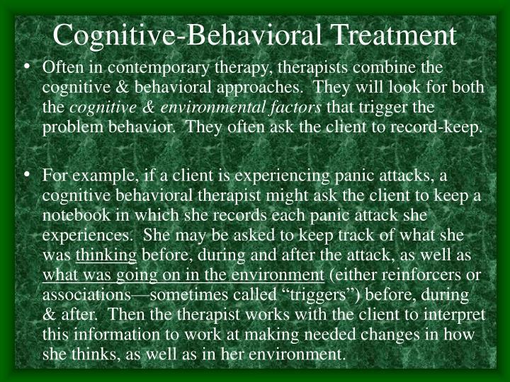 Cognitive-Behavioral Treatment