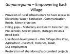gamaneguma empowering each village