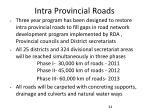 intra provincial roads