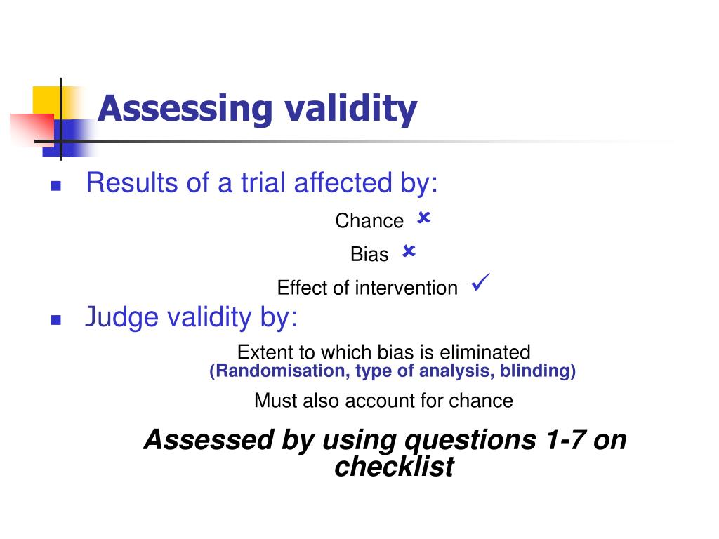Assessing validity