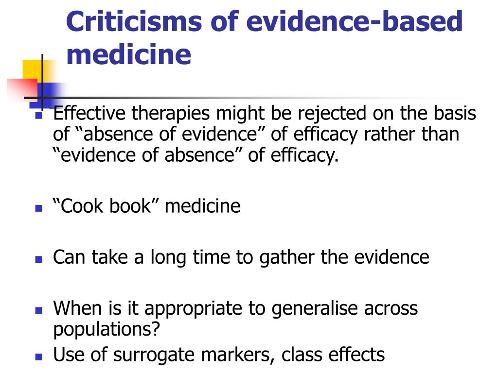 Criticisms of evidence-based medicine
