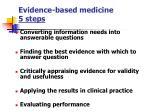 evidence based medicine 5 steps