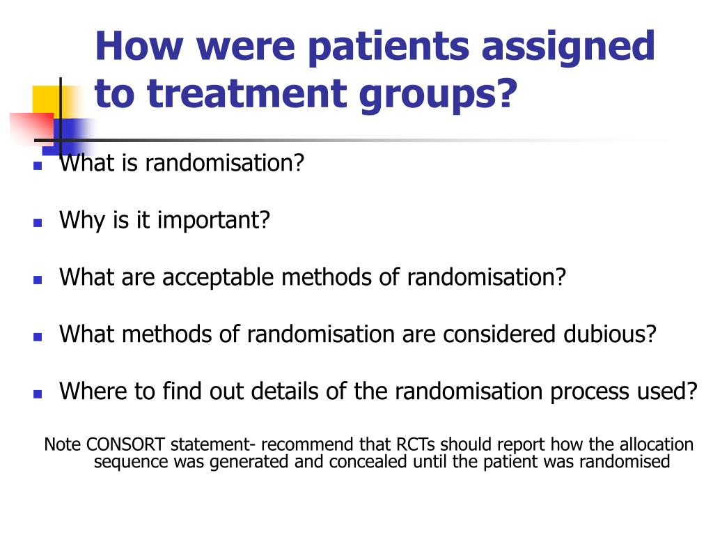 How were patients assigned to treatment groups?
