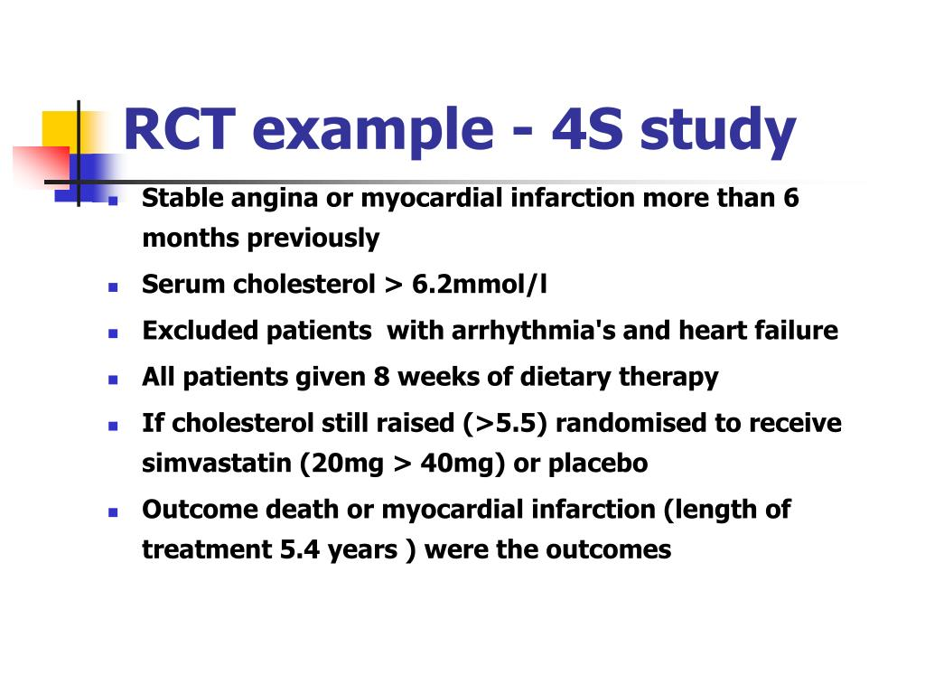RCT example - 4S study
