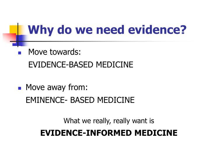 Why do we need evidence3