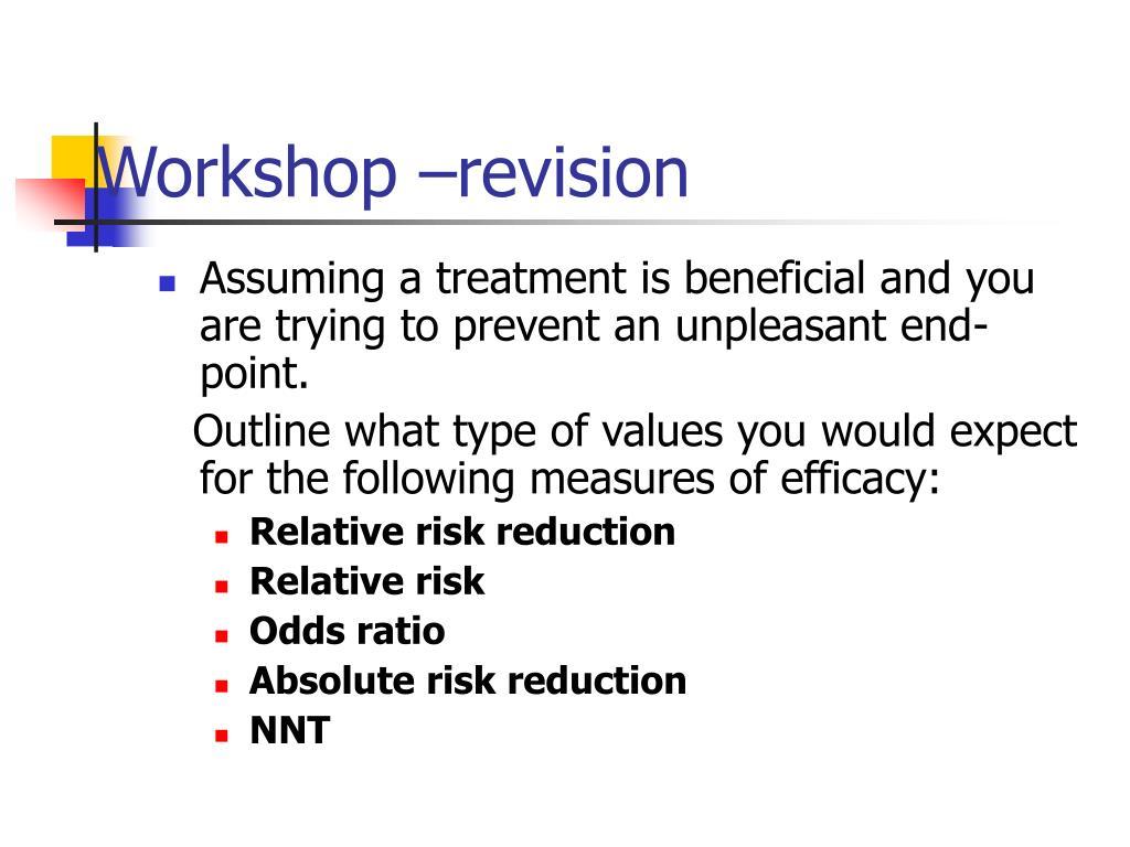 Workshop –revision