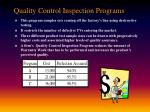quality control inspection programs