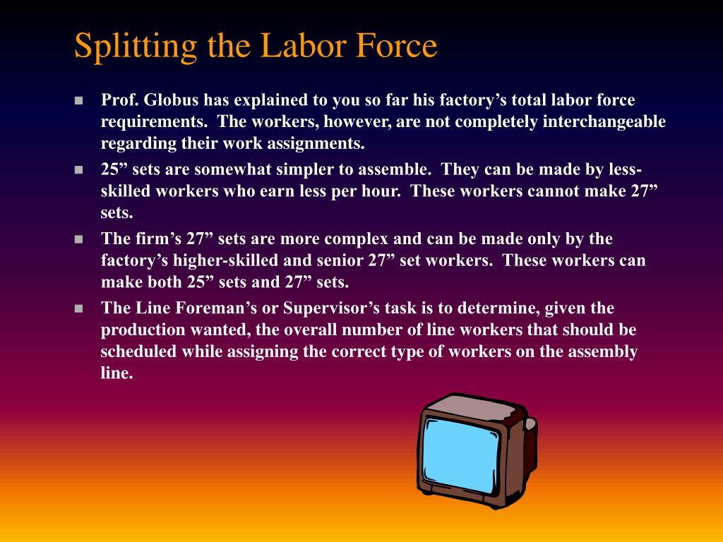 Splitting the Labor Force