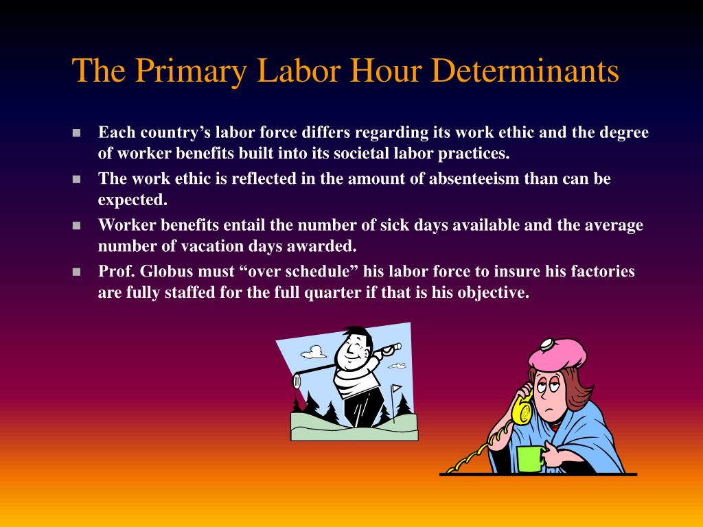 The Primary Labor Hour Determinants