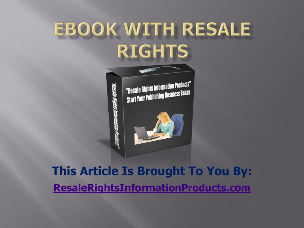 ebook with resale rights l.