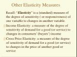 other elasticity measures