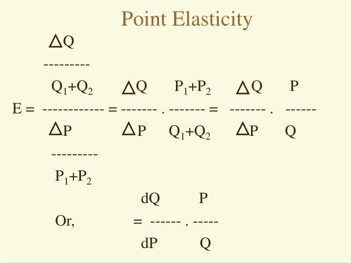 Point Elasticity