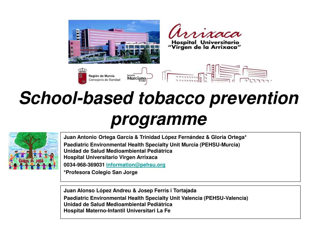 school based tobacco prevention programme