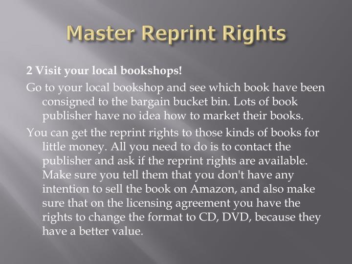 Master reprint rights3
