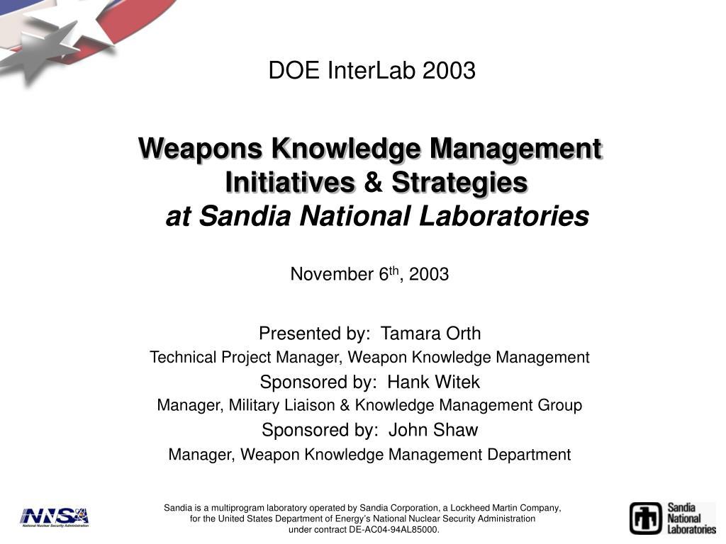 doe interlab 2003 l.