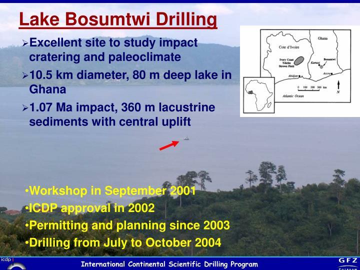 Lake Bosumtwi Drilling