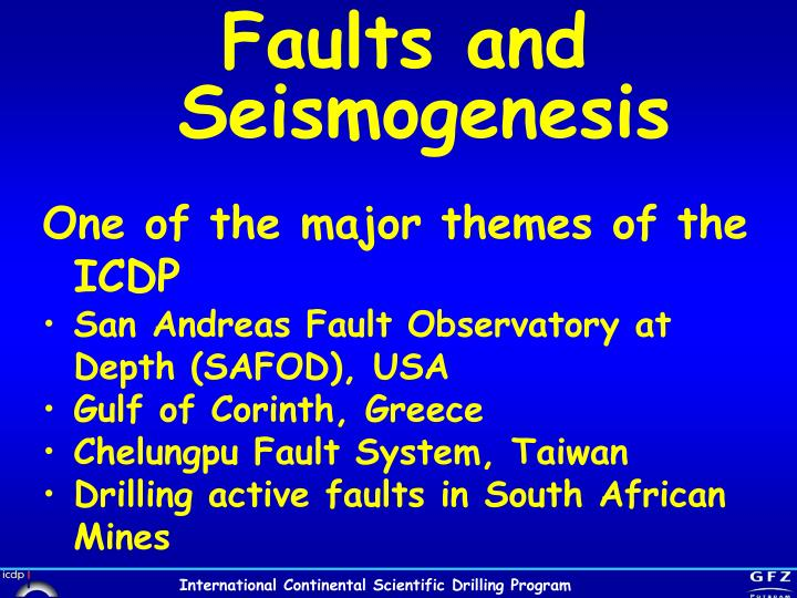 Faults and Seismogenesis