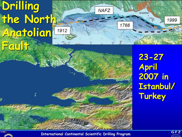 Drilling the North Anatolian Fault
