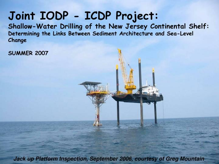 Joint IODP - ICDP Project: