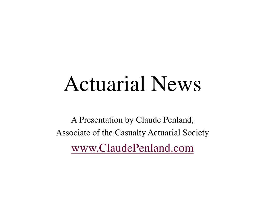 actuarial news l.