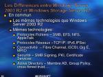 les diff rences entre windows server 2003 r2 et windows storage server r2