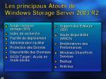 les principaux atouts de windows storage server 2003 r2