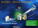scenario service de fichiers