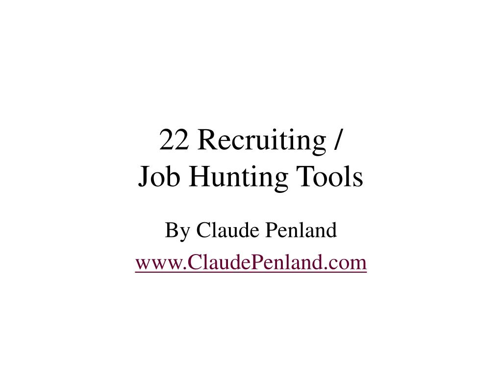 22 recruiting job hunting tools