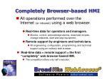 completely browser based hmi