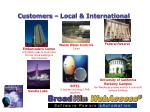 customers local international