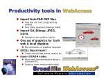 productivity tools in webaccess