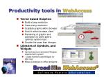 productivity tools in webaccess10