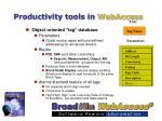 productivity tools in webaccess11