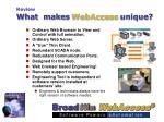 what makes webaccess unique8