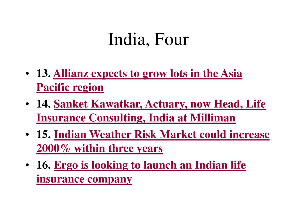 India, Four