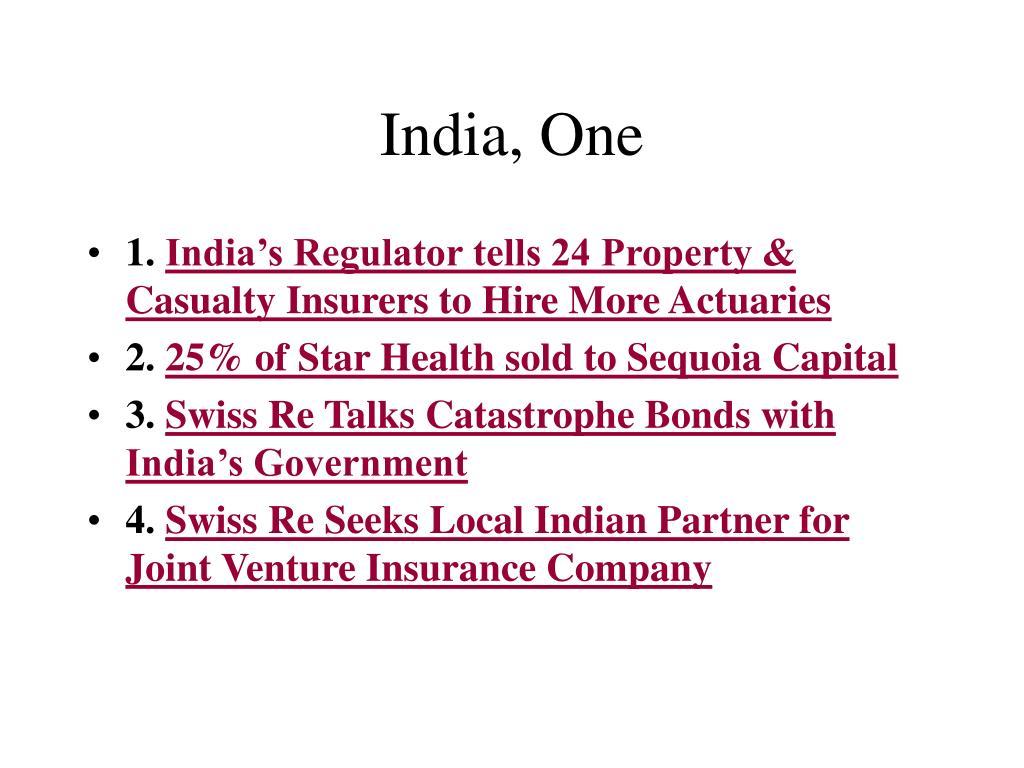 India, One
