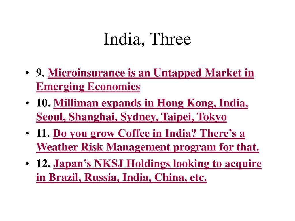 India, Three