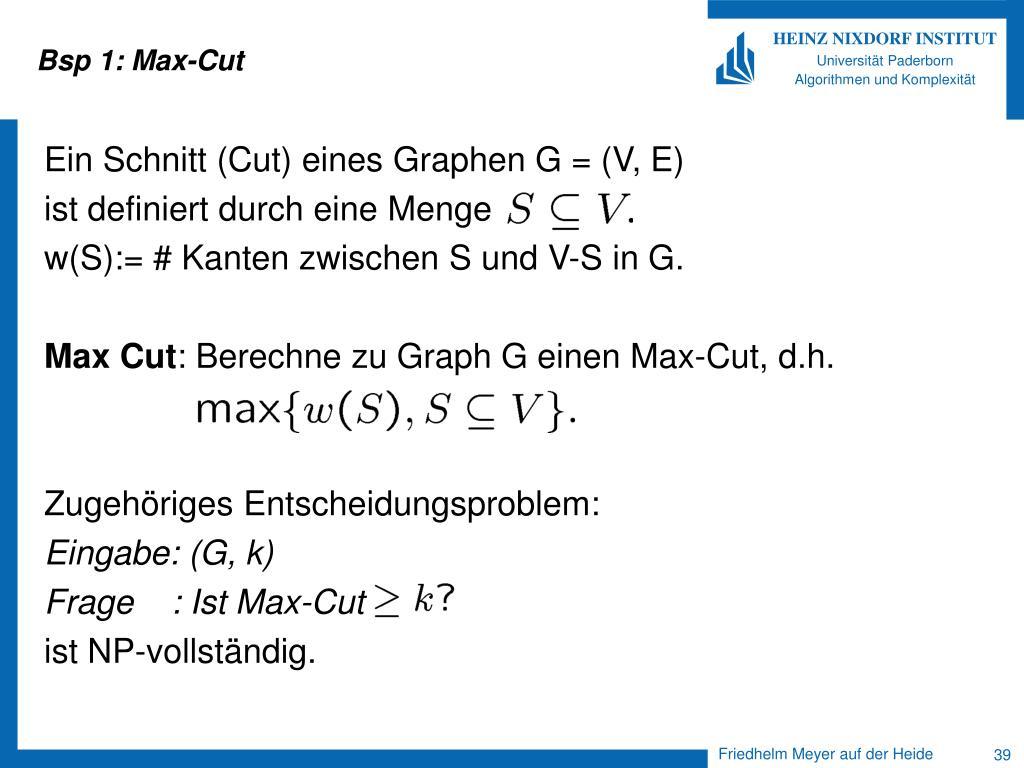 Bsp 1: Max-Cut