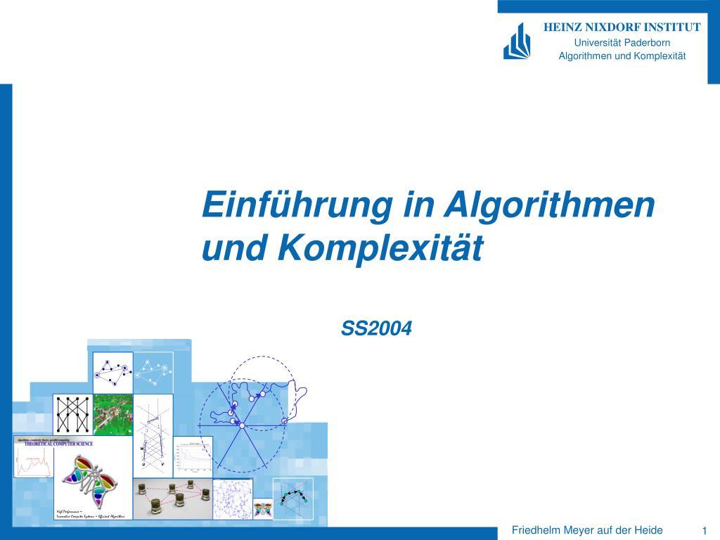 Einführung in Algorithmen und Komplexität