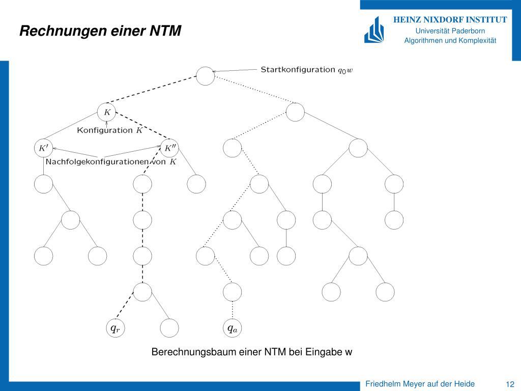 Rechnungen einer NTM