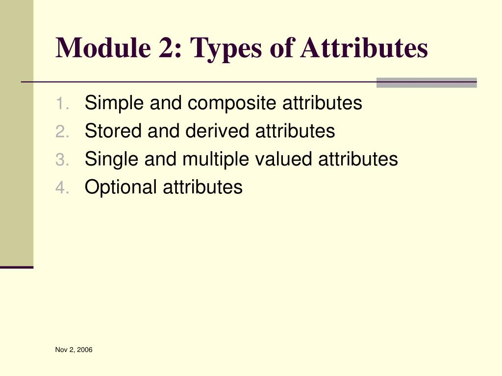 Module 2: Types of Attributes