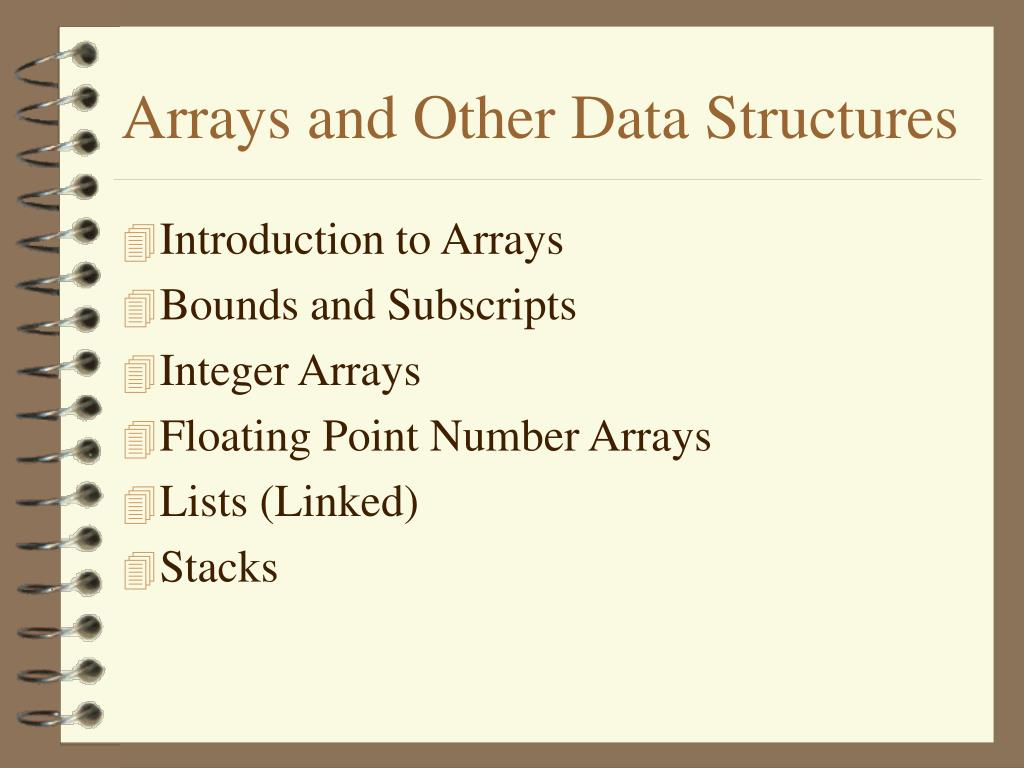 arrays and other data structures l.