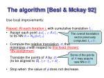the algorithm besl mckay 92
