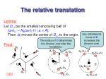 the relative translation